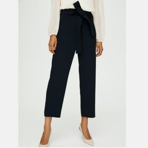 Wilfred Tie-Front Cropped, High-waisted Pants